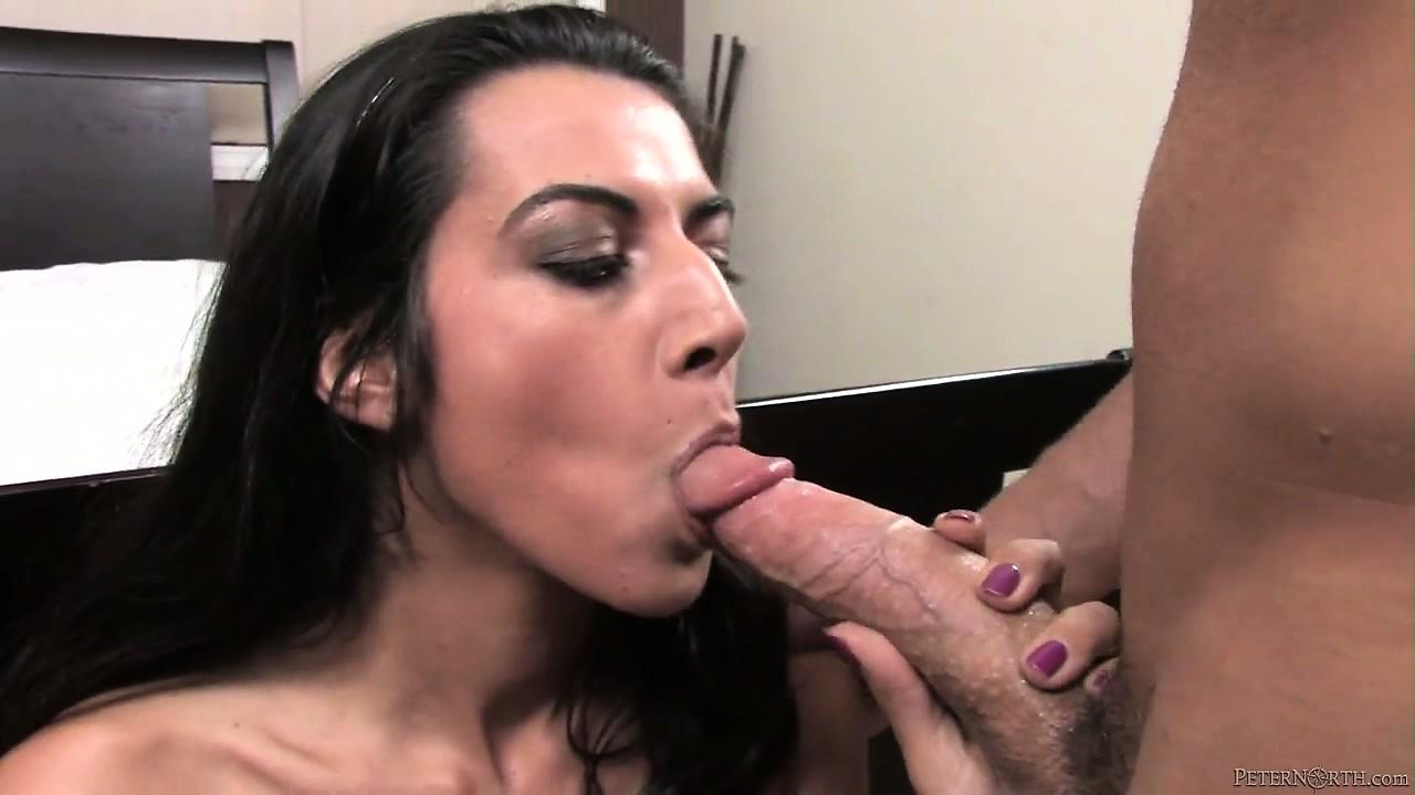 Porno Video of Brunette Pornstar Lou Charmelle Swallowing A Big Hard Cock In A Hot Pov Video