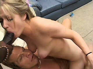 pretty blonde with lovely tits haley scott takes three huge dicks at the same time