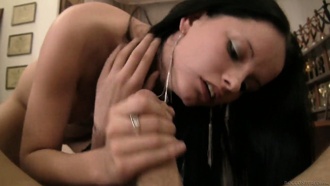 Porn Tube of Petite Brunette With Long Hair Gets To Grind On A Big Fat Cock