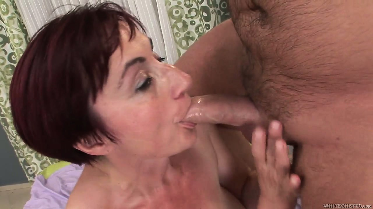 Porn Tube of Pounding At This Chunky Redhead Granny Gives Her Fur Pie A Creampie