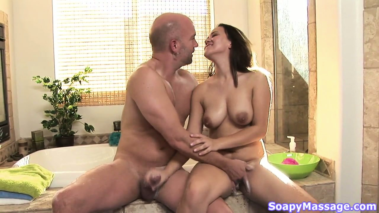 Porno Video of Callie Dee Masturbating A Dude's Cock After A Nice Soapy Massage