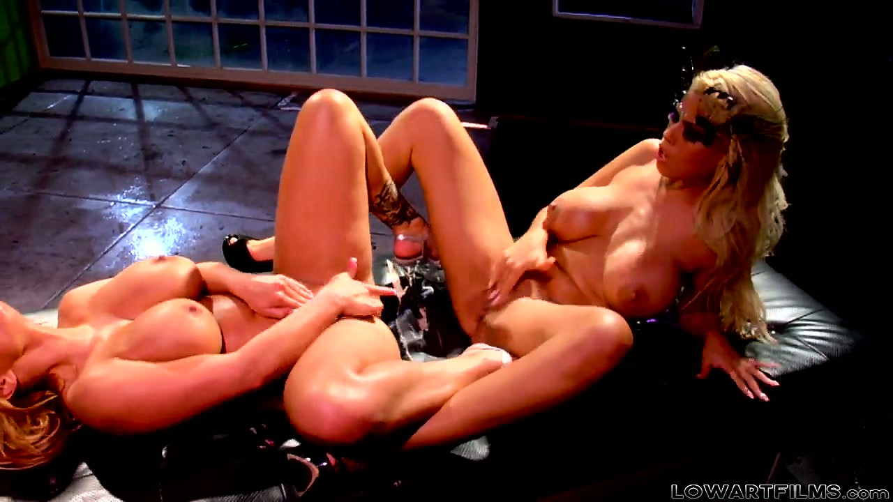 Sex Movie of It's Always Hot And Steamy Lesbian Action With Busty Blondes Bridget B And Shyla Styles