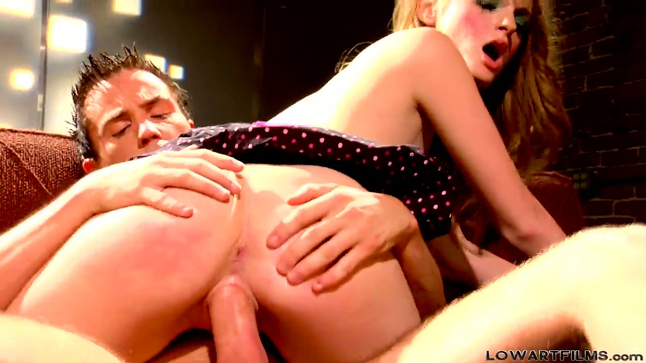 Porn Tube of Babe In A Polka Dot Dress Takes A Mean Pounding As She Rides