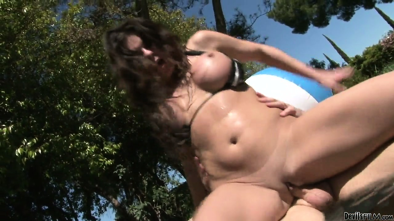 Porno Video of It's A Splashing Pool Party For Her Big Gazonga's And A Wet Pussy Fuck