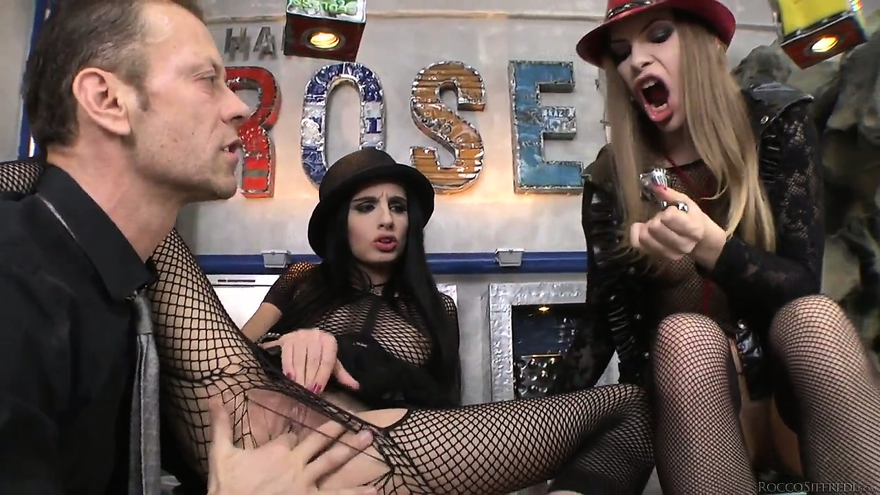 Porno Video of Rocco And These Fishnet Clad Bitches Love To Suck On Each Others Feet