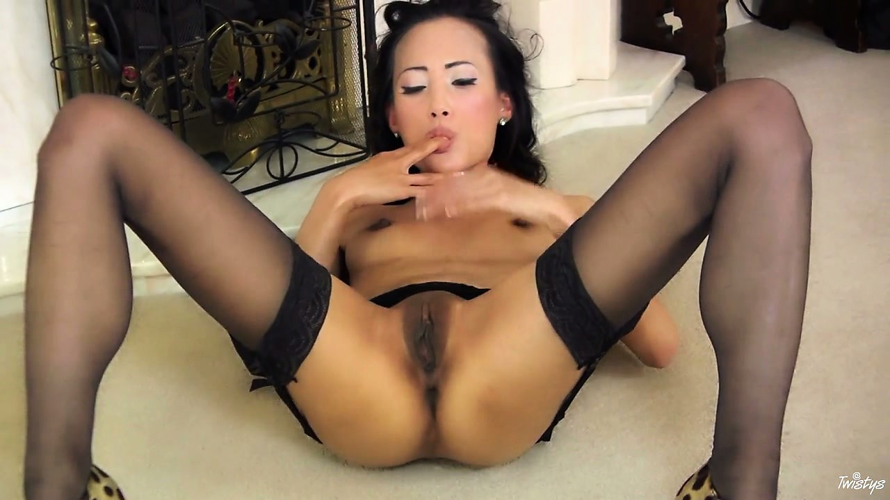 Porn Tube of Watch As This Skinny Asian Babe Teases Her Delicious Brown Pussy