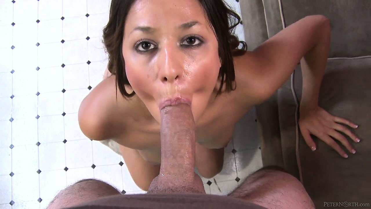 Porn Tube of Sexy Tanned Babe With Lovely Tits Displays Her Awesome Cock Sucking Abilities