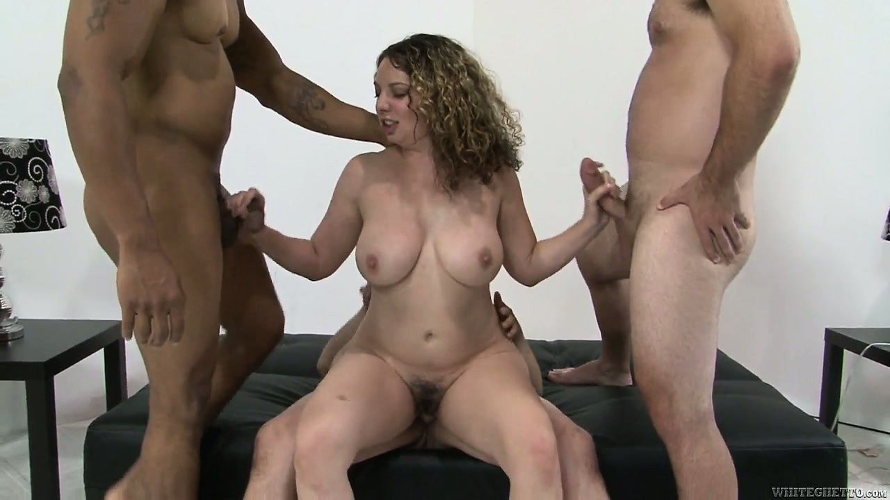 Porno Video of Slutty Babe Kiki Daire Getting Her Hairy Beaver Slammed By Three Hard Cocks