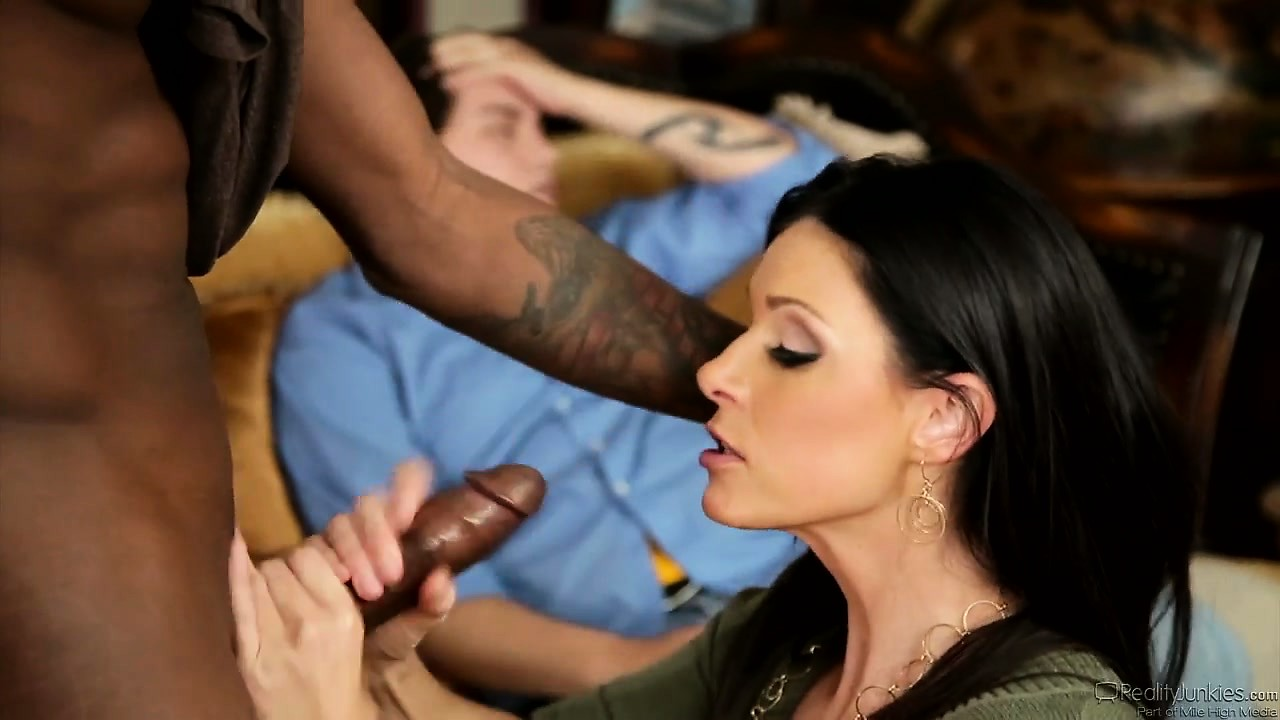 Porn Tube of Brunette Mom Cuckolds A Not To Happy Husband And Chomps Down On Black Cock