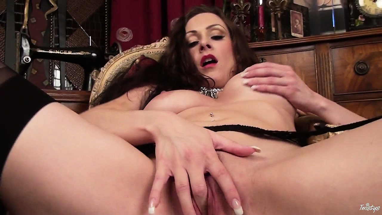 Porn Tube of Crummy, Charming Lady In Black Lingerie Feels Really Frisky This Evening