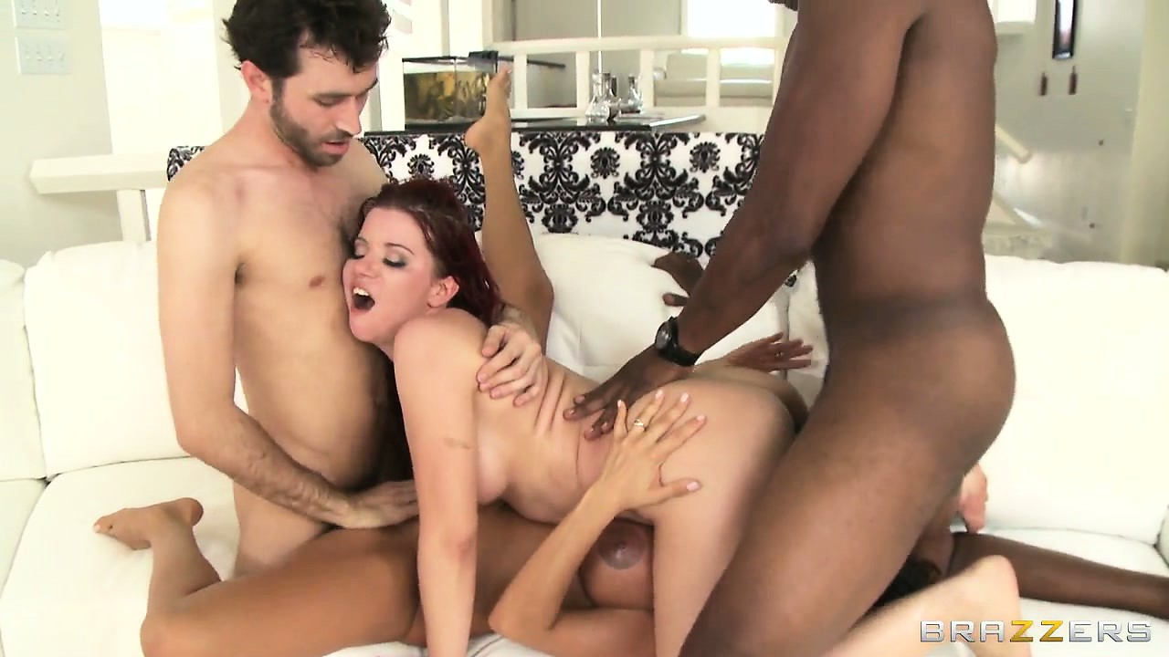 Porno Video of Horny Babes Get Their Men To Join Them In An Interracial Foursome