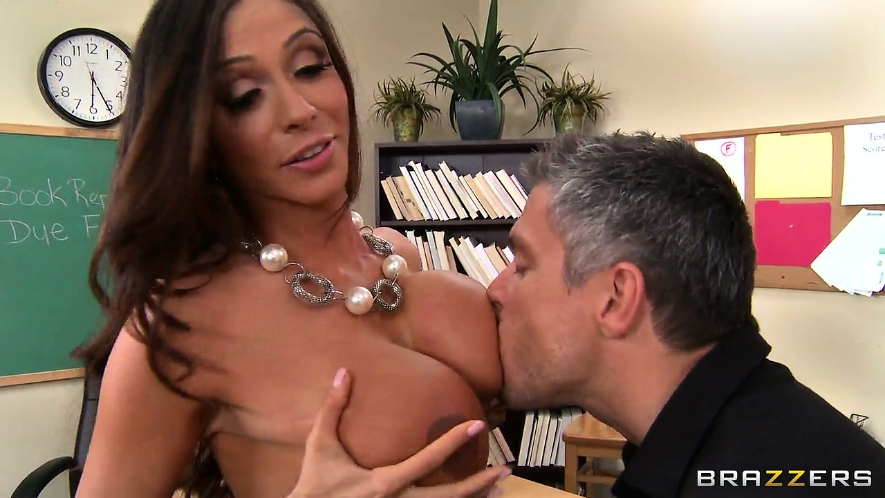 Porn Tube of Busty Brunette Teacher Shows Her Class How To Have A Proper Orgasm