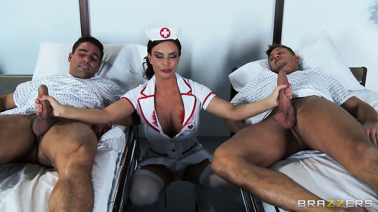 Porno Video of The Hot Brunette Nurse Is There To Check On The Patients And To Satisfy Her Needs