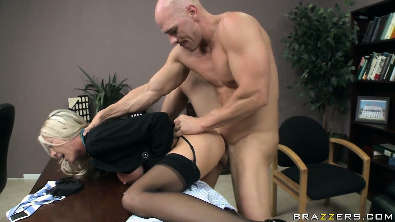 Porn Tube of The Horny Boss Bends His Slutty Blonde Secretary Over The Desk And Drills Her
