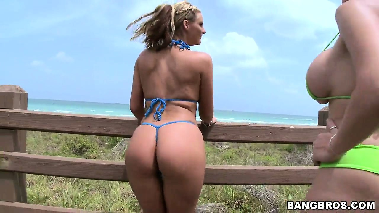 Porn Tube of Bikini Babes Pose And Show Off Their Big Tits And Nice, Round Ass