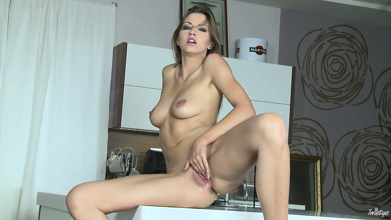 Porno Video of She's In The Kitchen Cooking Up Her Own Hot Box With Her Fingers
