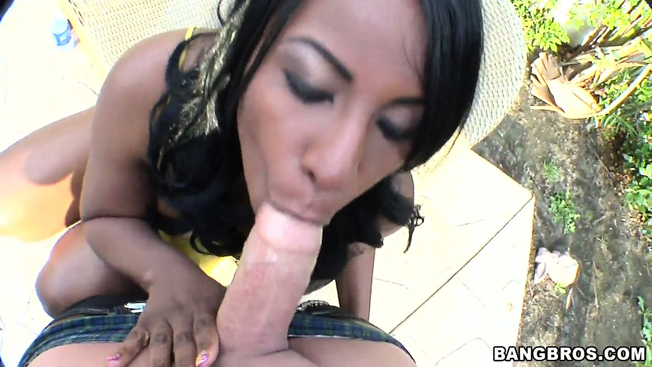 Porn Tube of Cute Ebony Teen Briana Bliss Slammed After Sucking This White Cock