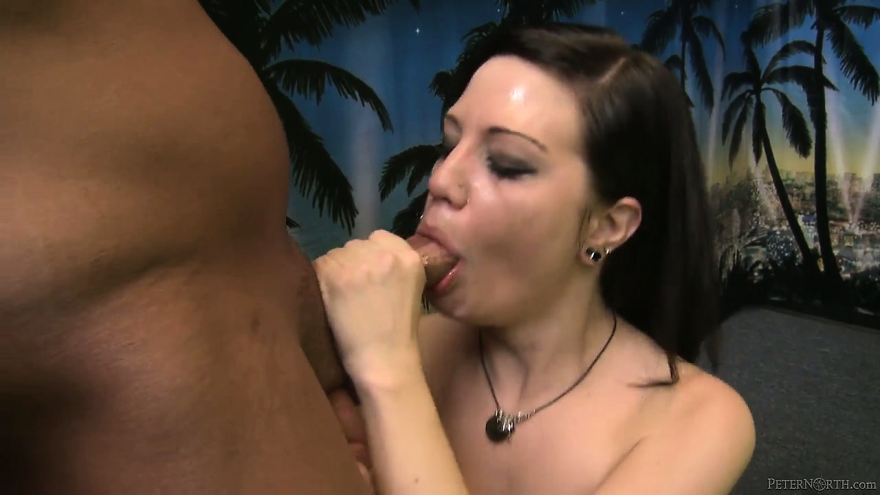 Porn Tube of Beautiful Brunette With An Adorable Smile And Tiny Tits Gives A Deep And Intense Blowjob
