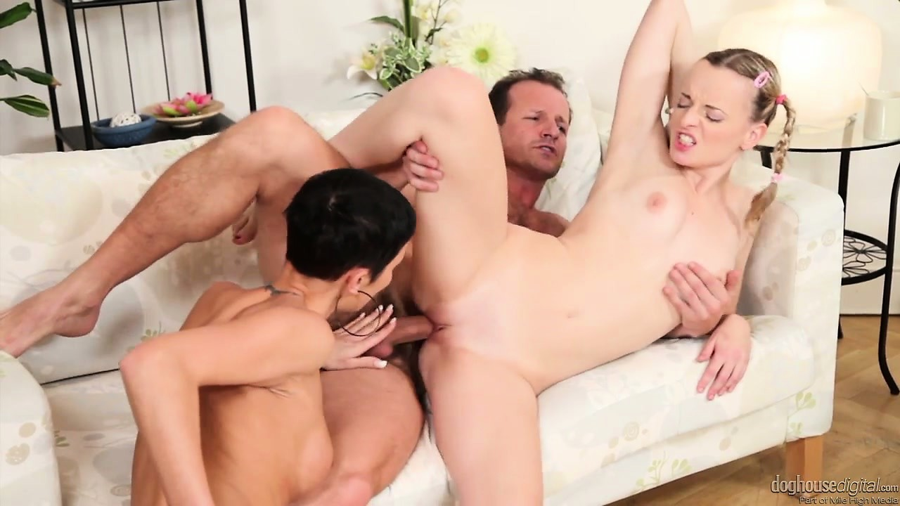 Porno Video of Cutie With Pig Tails Gets Ravaged By A Milf And Her Well Hung Man