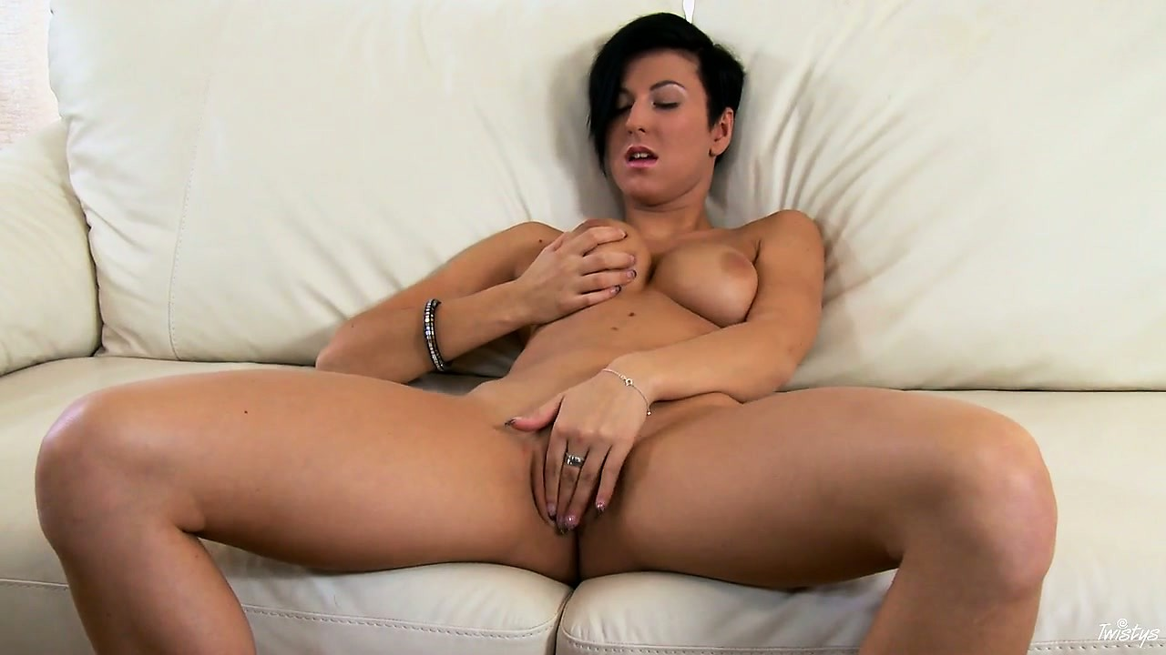 Porno Video of Her Heels Match The Color Of Her Lacy Panties And Sexy Short Hair