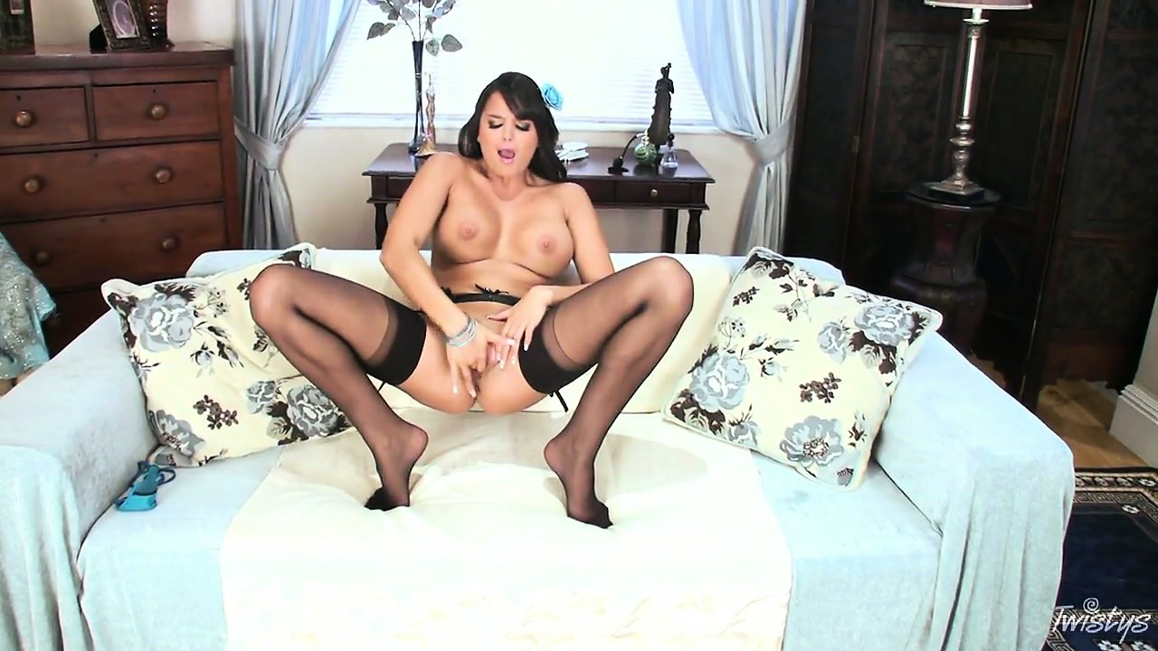 Porno Video of Sasha Looks Absolutely Stunning In Her Kinky Black Stockings